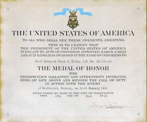 Jonah E Kelley Medal of Honor Citation