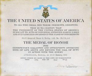 Jonah E Kelley Medal of Honor Citation